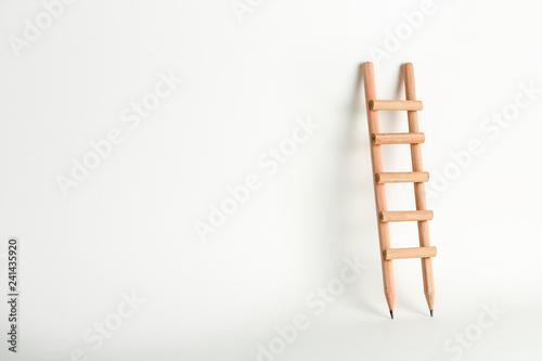 Fotografie, Obraz pencil ladder on white