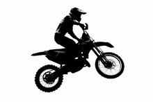 Motorcycle Racer Silhouette On...