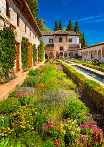 The famous Alhambra in Granada, Spain