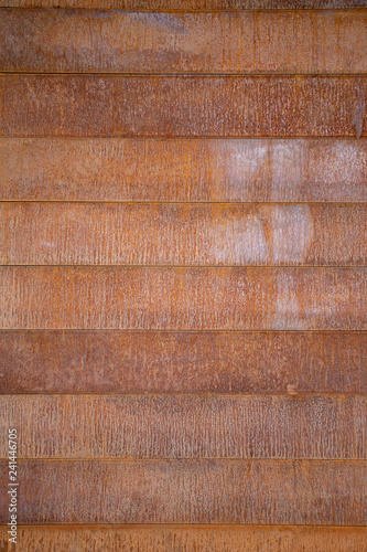Red Rust Corten Steel Panels Planks Background Buy This Stock