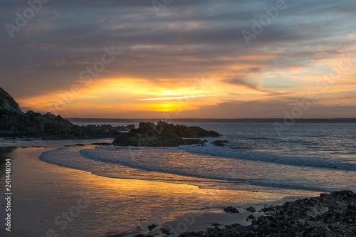 Fotografie, Obraz  Port-Morvan - Coucher de soleil