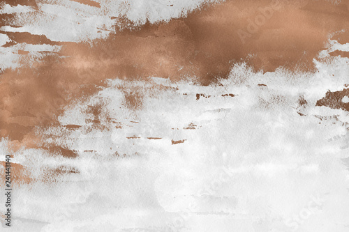Modern contemporary creamy copper background Wallpaper Mural