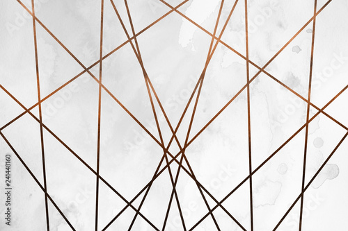 Fototapeta Modern contemporary creamy copper background. Luxury girlish texture. Delicious and clean backdrop with geometric and artistic elements. obraz