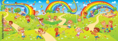 Fotografía  Children playing in playground