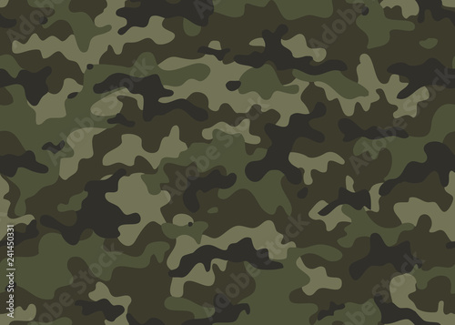 Fotomural  Print Texture military camouflage seamless pattern