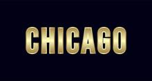 Chicago City Typography Vector...