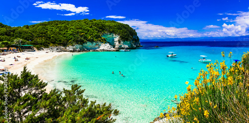 Most beautiful beaches of Greece - Vrika in Antipaxos. Ionian islands