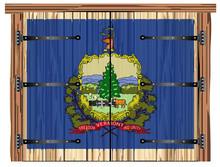 Closed Barn Door With Vermont ...
