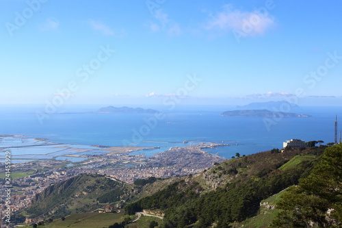 Fotografie, Obraz  Trapani vista da Monte Erice