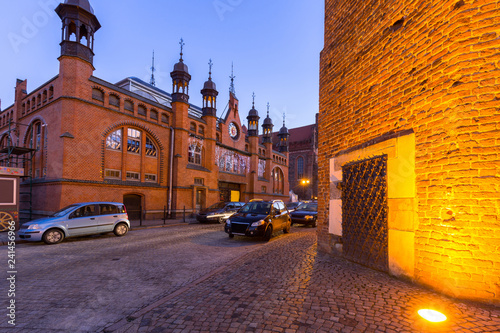 Staande foto Europese Plekken Architecture of the old town in Gdansk at dusk, Poland