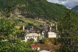 Fototapeta Do pokoju - View to the Mestia town from hill