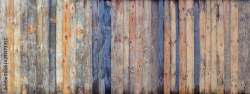 Fotografia Brown wood colored plank wall texture background