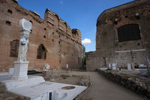 BERGAMA, TURKEY - OCTOBER 23, 2016 : Red Basilica The Temple Of Serapis At Ancient Pergamon City (Kizilavlu - Serapeion)