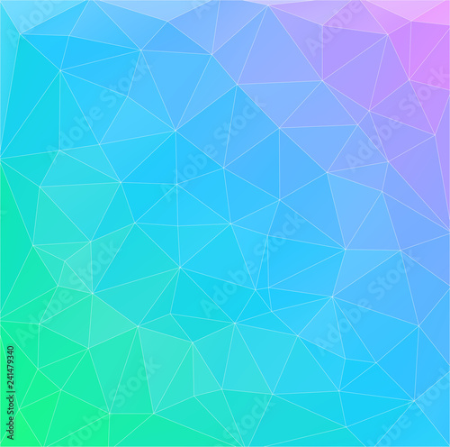 Flat multicolor gradient triangle geometric wallpaper