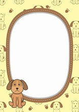 Cute Blank Frame With Adorable...