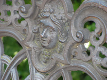 Detail Of Old Cast Iron Bench