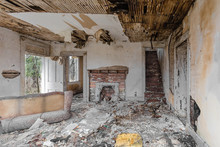 Interior Of Abandoned House Fa...
