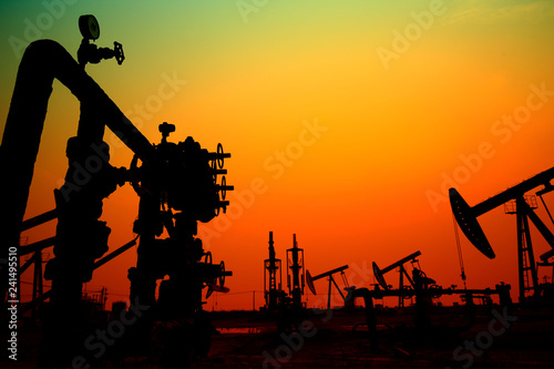 Canvas Prints Military The oil pump, industrial equipment