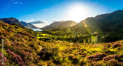 Fototapeta Glenfinnan Viaduct Panoramic obraz