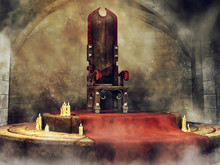 Medieval Throne And Candles. 3...