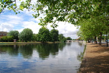 The River Great Ouse At The Embankment In Bedford, England