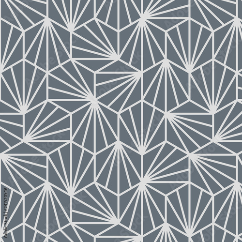 Fotografía  Japanese Grey Geometric Pattern