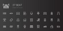 Seat Icons Set