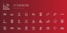 Exercise Icons Set