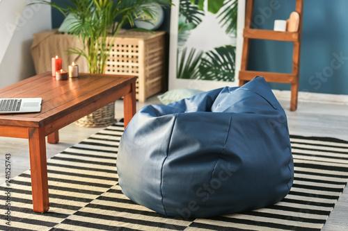 Fotografie, Obraz  Beanbag chair in interior of room