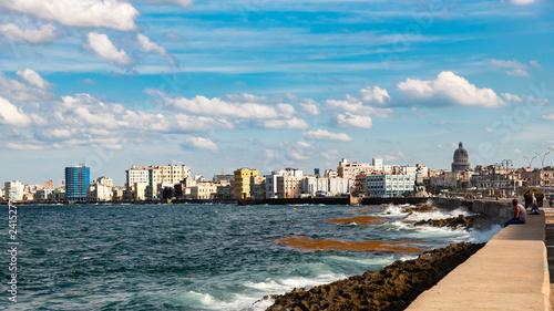 Photo  Malecon blick auf Havanna Kuba
