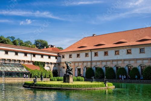 In de dag Centraal Europa Prag, Wallenstein- Garten