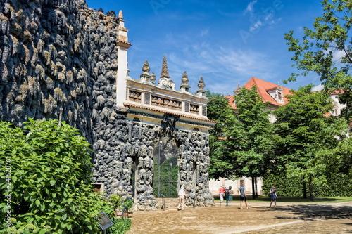 In de dag Centraal Europa Prag, Wallenstein-Garten