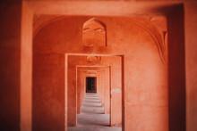 Way Between Passage In Building