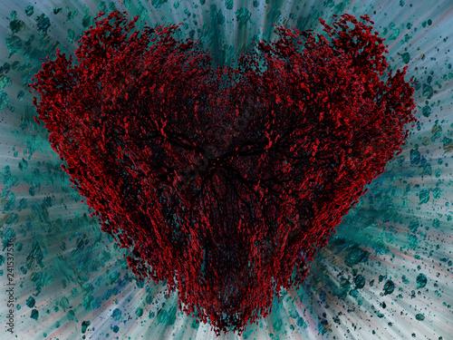 coração Canvas Print