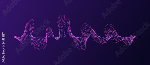 Poster Aigle Abstract flowing wave pattern lines. Graphic vector element.