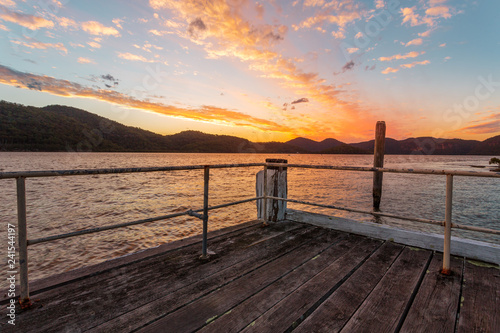 Admiring the views on Peat Island Jetty sunset
