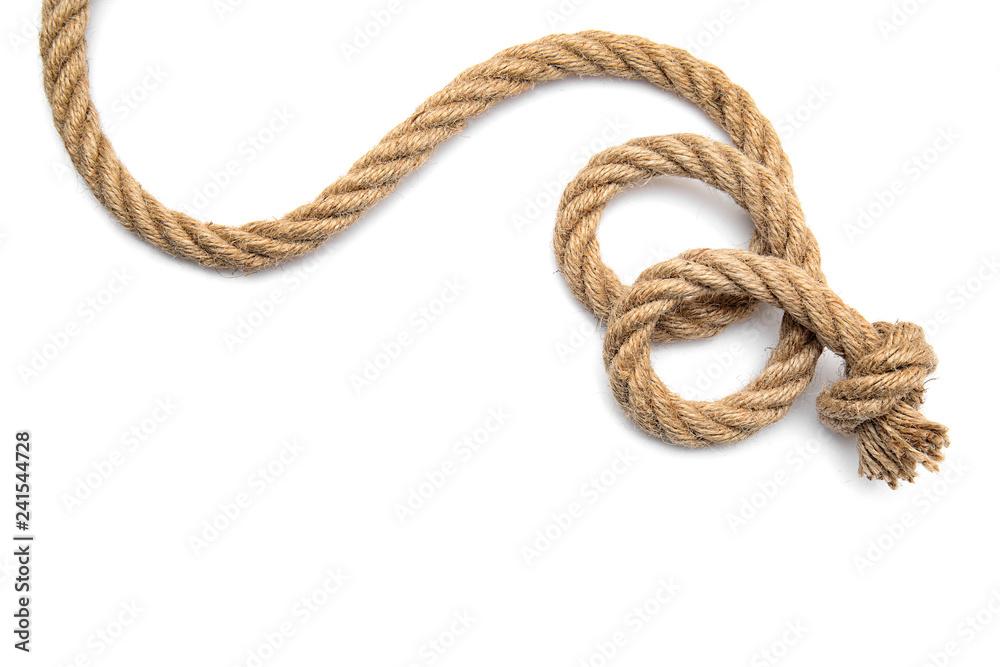 Fototapety, obrazy: Rope on white background