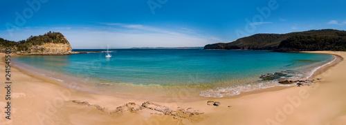 Naklejka premium Maitland Bay beach panorama Central Coast Australia