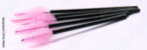 Fotografie, Obraz  Brushes and tools for building and caring for eyelashes