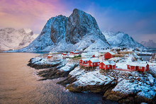 Hamnoy Fishing Village On Lofo...