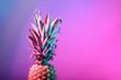 Leinwanddruck Bild - Fresh pineapple on color background