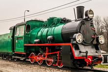A Green Steam Locomotive Engin...