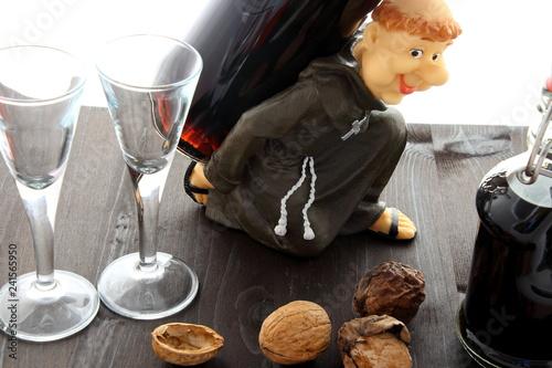 Nut liqueur carries the monk