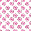 Vintage seamless floral pattern. Cute simple style flowers on a white. Abstract hand drawn vector background.
