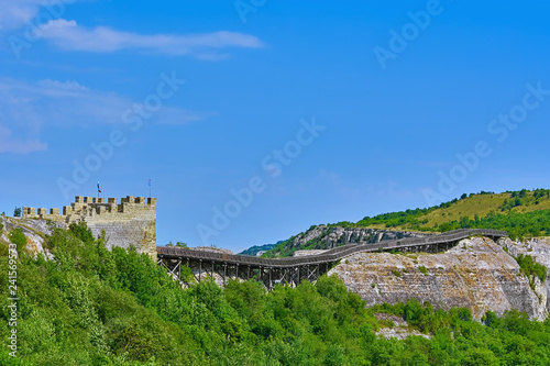 Spoed Foto op Canvas Historisch geb. Bridge in Ovech Fortress