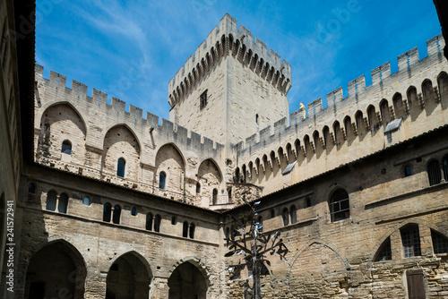 Papstpalast in Avignon in Südfrankreich Wallpaper Mural