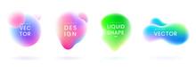Liquid Gradient Blobs Set. Abs...