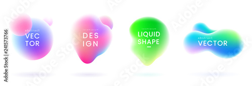 Fotografia Liquid gradient blobs set