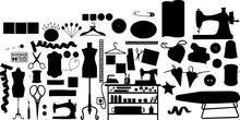 裁縫道具のシルエット
