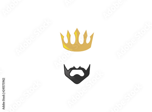 Photo  Lord and king golden Crown with black Beard